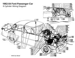 wiring diagram for 1952 54 ford 8 cyl wiring ford