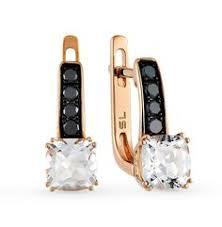 Золотые <b>серьги</b> с <b>чёрными</b> бриллиантами и топазами ...