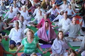 photo essay international yoga festival yoga in on the 29th annual international yoga festival the day begins a meditation session on the banks of the river ganga