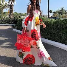 VONDA <b>2019 Summer</b> Beach Dress Bohemian <b>Women Sexy</b> Off ...