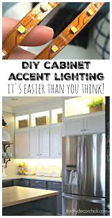 these are a really affordable and energy efficient way to add accent lighting to your kitchen heres an image to pin for later if you are interested cabinet accent lighting
