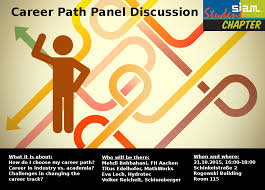 career path panel discussion siam student chapter aachen career path poster