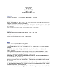 receptionist resume objective com receptionist resume objective to inspire you how to create a good resume 14