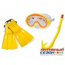 <b>Набор для плавания Intex</b> от 3 до 8 лет (маска+трубка+ласты на ...