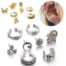 Fashionable Allergy Free <b>Bohemia Sun And Moon</b> 8 PCS/Set Stud ...