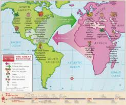 the columbian exchange by nystrom map interesting the columbian exchange 1492 1640 by nystrom map