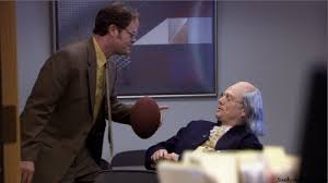 what is not one of the questions dwight uses to quiz ben franklin ben office fan