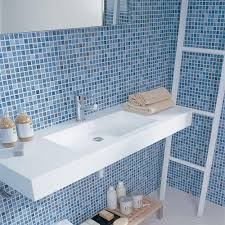 blue bathroom tile ideas:  white and blue tile bathroom lsodzm