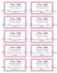 diaper raffle tickets printable info printable pink flower diaper raffle tickets great for baby showers