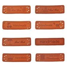 Hand Clothes <b>10PCs PU Leather</b> Tags On Made Labels | Leather ...