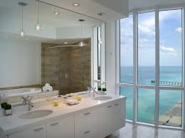 oversized dome pendant bathroom modern with ocean view white bathroom vanity bathroom vanity pendant