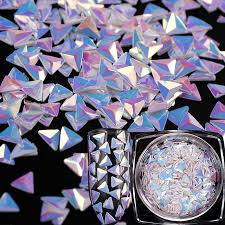 <b>Цвет</b> Единорог <b>AB</b> блестками хамелеон треугольник 3D <b>ногтей</b> ...