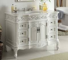 traditional style antique white bathroom:  inch beckham bathroom sink vanity sw w aw