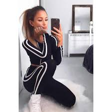 <b>ZOGAA 2019 New Women</b> Casual Tracksuit Two Piece Female Set ...