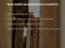shakespeare s biography by sin who were shakespeare s parents