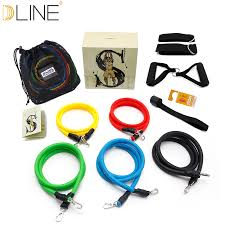 dline <b>11pcs</b>/<b>set</b> Pull Rope Fitness Exercises <b>Resistance Bands</b> ...