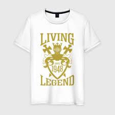 Женская футболка <b>1948</b> - <b>живая легенда</b> из хлопка купить ...