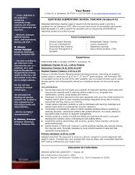 cv format for teachers   cv personal statement examples    elementary teacher resume template