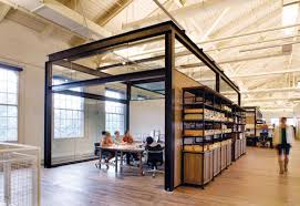 awesome brown white wood glass cool design office interior space work glass room wood floor wall awesome cool office interior unique