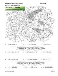 Worksheets on Decimals by Math CrushLevel 3 Preview · Print · Answers. Preview of math worksheet on Multiplying Decimals ...