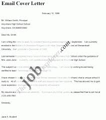 cover letter email format template cover letter email format