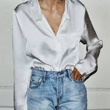 <b>silk shirt</b> and jeans outfit in 2019 | <b>Fashion</b>, <b>Clothes</b>, Style