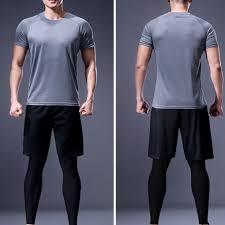Men Training Sportswear Set 4pcs Gym <b>Morning Run Quick</b>-<b>drying</b> ...