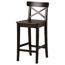 black ikea breakfast bar chair with back black furniture ikea