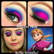anna eyemakeup frozen makeup eye disney princess amazing ideas