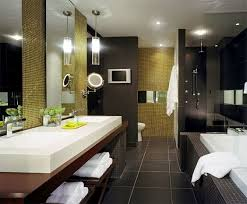 architecture bathroom toilet: hilton hotel bathroom basins wall hiding loro glass shower dooraufteilung