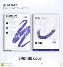 clean brochure cover template blured duotone city landscape clean brochure cover template blured duotone city landscape and abstract shapes blue corporate identity