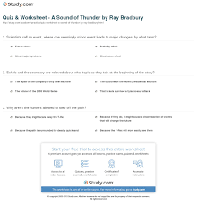 quiz worksheet a sound of thunder by ray bradbury com print bradbury s a sound of thunder summary theme analysis worksheet