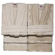 комплект банный TAC <b>халат</b> махр 2шт <b>р р 46 48</b> полотенца 2шт ...
