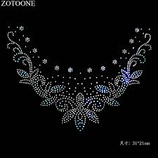 <b>ZOTOONE Super Bright</b> Clear Crystal Iron on Patch Hot Fix ...