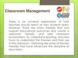 spe  collaborative activity   classroom management theories      classroom management there is no universal