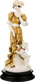 <b>Статуэтка Lefard Девушка</b> с пуделем, 431-088, белый, высота 26 ...