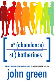 An Abundance of Katherines by John Green cover.