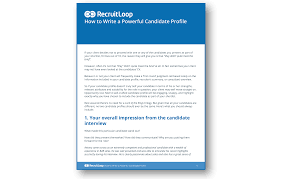how to write a powerful candidate profile do better hiring the how to write a powerful candidate profile 366x232