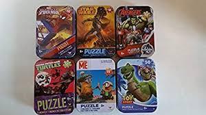 SET OF 6 COLLECTORS TIN PUZZLES: (MARVEL ... - Amazon.com