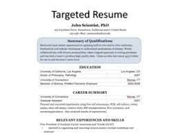 targeted resume processtransform into targeted resume   statement of qualifications that captures all critical skills