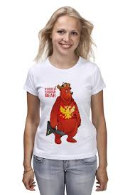 Футболка классическая <b>Rugged Russian</b> Bear #933332 – заказать ...
