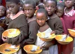 Crianças com fome em Angola...