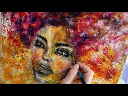 <b>Abstract face painting</b>, Acrylic <b>abstract</b> woman art, African woman ...
