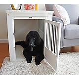 new age pet white dog crate w metal spindles furniture style dog crates
