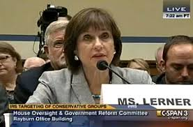 Lois Lerner. She said she didn't break any laws.