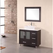 element contemporary bathroom vanity set: design element stanton quot bathroom vanity with vessel sink espresso