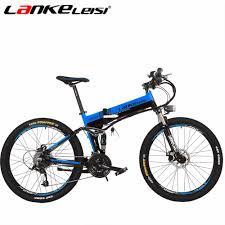 <b>LANKELEISI XT750</b> Hidden Lithium Electric Folding Mountain Bike ...