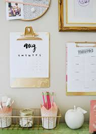chic home office decor: hang your planner and to do lists on a clipboard diy gold home decordesk decor diygold office