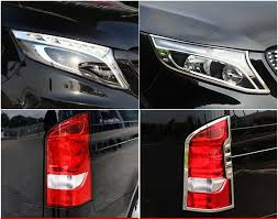 JIOYNG Car ABS <b>Chrome Front Headlight</b> + <b>Rear Tail Light</b> Cover ...