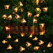 <b>30 LED</b> 6.5M Simulation Honey Bees <b>Solar</b> Power String Lamp Fairy ...
